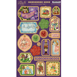Graphic 45 - Nutcracker Sweet Collection - Christmas - Die Cut Chipboard Tags - One