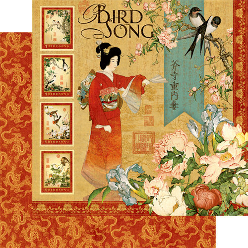 Graphic 45 - Bird Song Collection - 12 x 12 Double Sided Paper - Bird Song
