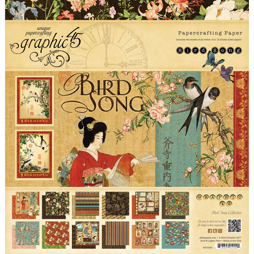 Graphic 45 - Bird Song Collection - 12 x 12 Paper Pad