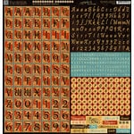 Graphic 45 - Bird Song Collection - 12 x 12 Cardstock Stickers - Alphabet