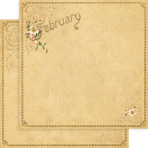 Graphic 45 - Place in Time Collection - 12 x 12 Double Sided Paper - February Foundation