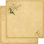 Graphic 45 - Place in Time Collection - 12 x 12 Double Sided Paper - April Foundation