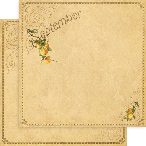 Graphic 45 - Place in Time Collection - 12 x 12 Double Sided Paper - September Foundation