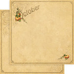 Graphic 45 - Place in Time Collection - 12 x 12 Double Sided Paper - October Foundation