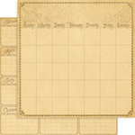 Graphic 45 - Place in Time Collection - 12 x 12 Double Sided Paper - Calendar Foundation