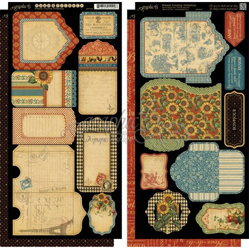 Graphic 45 - French Country Collection - Tags and Pockets