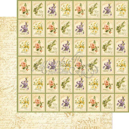 Graphic 45 - Secret Garden Collection - 12 x 12 Double Sided Paper - Seed Fairy