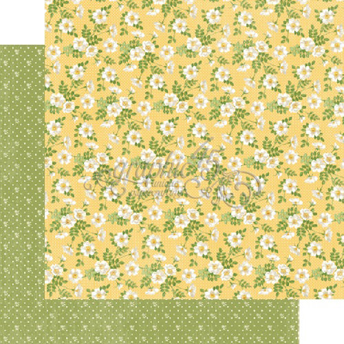 Graphic 45 - Secret Garden Collection - 12 x 12 Double Sided Paper - Pretty Primrose