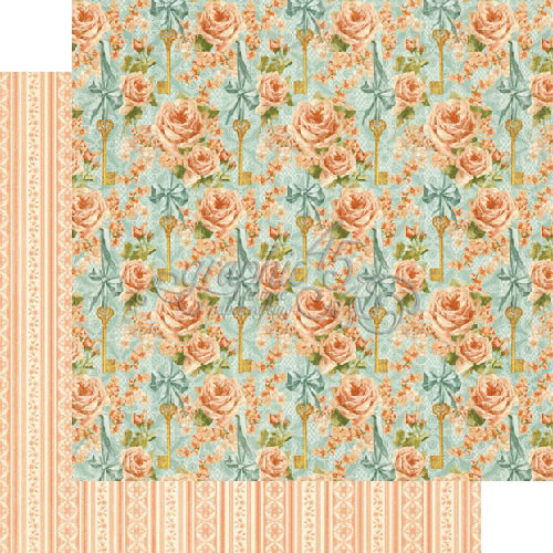 Graphic 45 - Secret Garden Collection - 12 x 12 Double Sided Paper - Coming Up Roses