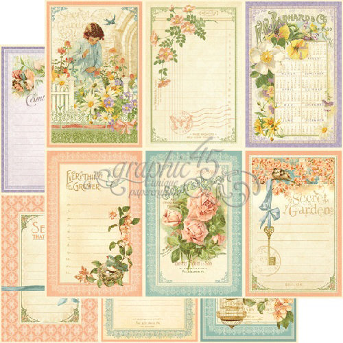 Graphic 45 - Secret Garden Collection - 12 x 12 Double Sided Paper - May Flowers