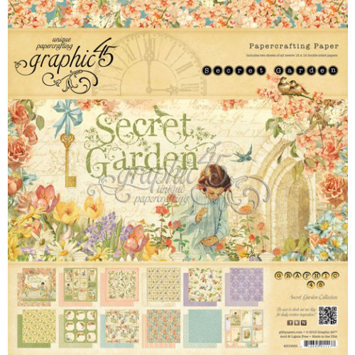 Graphic 45 - Secret Garden Collection - 12 x 12 Paper Pad