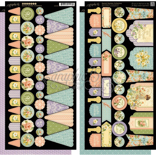Graphic 45 - Secret Garden Collection - Cardstock Banners