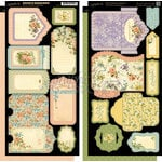 Graphic 45 - Secret Garden Collection - Cardstock Tags and Pockets