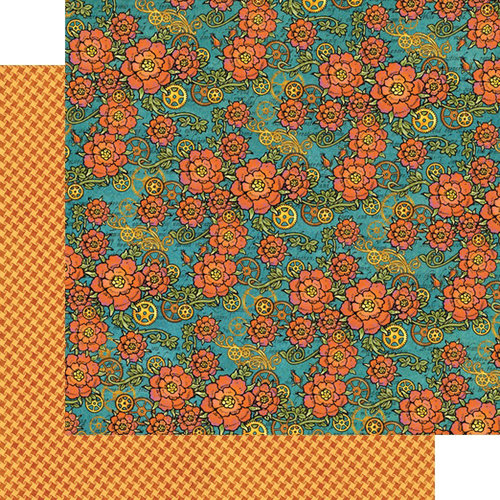 Graphic 45 - Steampunk Spells Collection - 12 x 12 Double Sided Paper - Fanciful Floral