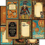 Graphic 45 - Steampunk Spells Collection - 12 x 12 Double Sided Paper - Vintage Voyage