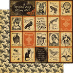 Graphic 45 - Steampunk Spells Collection - 12 x 12 Double Sided Paper - Nevermore