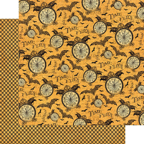 Graphic 45 - Steampunk Spells Collection - 12 x 12 Double Sided Paper - Tick-Tock