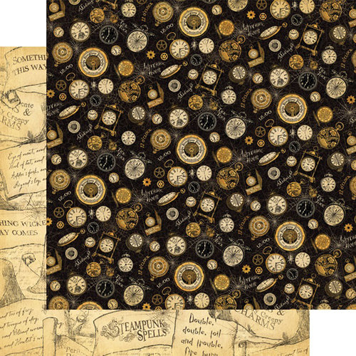 Graphic 45 - Steampunk Spells Collection - 12 x 12 Double Sided Paper - Witching Hour
