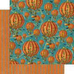 Graphic 45 - Steampunk Spells Collection - 12 x 12 Double Sided Paper - Pumpkin Power