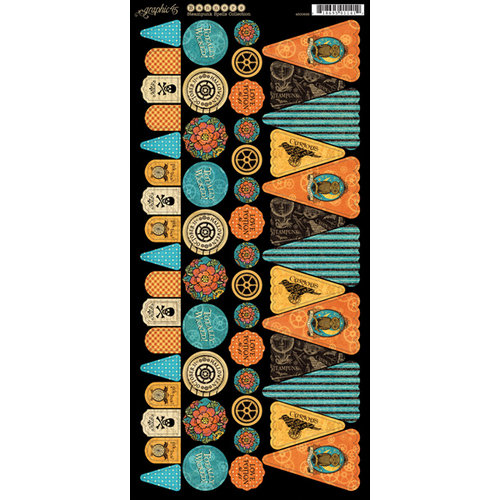 Graphic 45 - Steampunk Spells Collection - Cardstock Banners