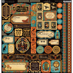 Graphic 45 - Steampunk Spells Collection - 12 x 12 Cardstock Stickers