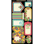 Graphic 45 - Bohemian Bazaar Collection - Cardstock Tags and Pockets