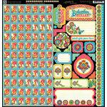 Graphic 45 - Bohemian Bazaar Collection - 12 x 12 Cardstock Stickers