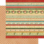 Graphic 45 - Twelve Days of Christmas Collection - 12 x 12 Double Sided Paper - Joyeux Noel