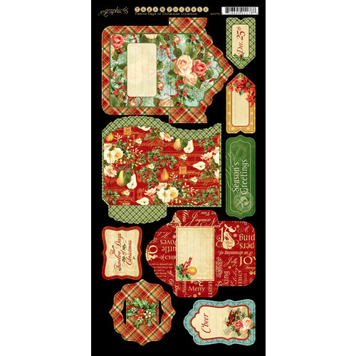 Graphic 45 - Twelve Days of Christmas Collection - Cardstock Tags and Pockets