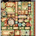 Graphic 45 - Twelve Days of Christmas Collection - 12 x 12 Cardstock Stickers