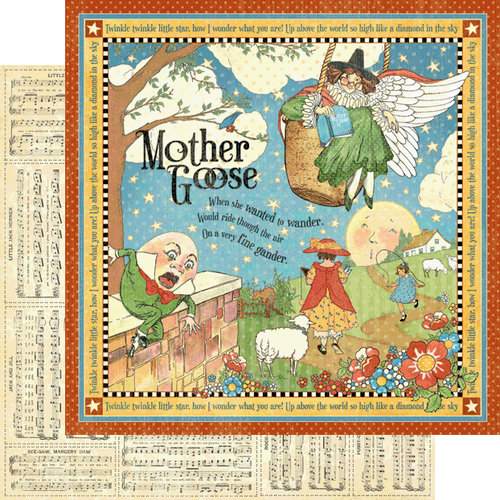 Graphic 45 - Mother Goose Collection - 12 x 12 Double Sided Paper - Mother Goose