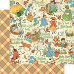 Graphic 45 - Mother Goose Collection - 12 x 12 Double Sided Paper - Nursery Rhymes
