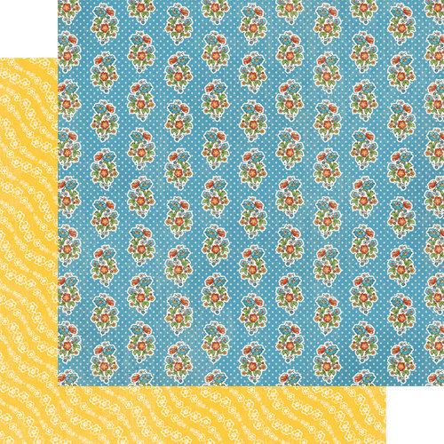 Graphic 45 - Mother Goose Collection - 12 x 12 Double Sided Paper - A Pocketful of Posies