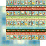 Graphic 45 - Mother Goose Collection - 12 x 12 Double Sided Paper - Playful Postage