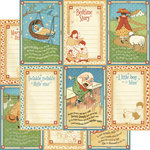 Graphic 45 - Mother Goose Collection - 12 x 12 Double Sided Paper - Little Boy Blue