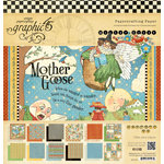 Graphic 45 - Mother Goose Collection - 12 x 12 Paper Pad