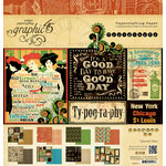 Graphic 45 - Typography Collection - 12 x 12 Paper Pad