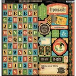 Graphic 45 - Typography Collection - 12 x 12 Cardstock Stickers