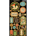 Graphic 45 - Typography Collection - Die Cut Chipboard Tags