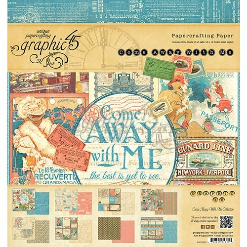 Graphic 45 - Come Away With Me Collection - 8 x 8 Paper Pad