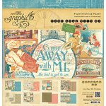 Graphic 45 - Come Away With Me Collection - 12 x 12 Paper Pad