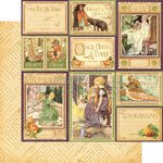 Graphic 45 - An Eerie Tale Collection - Halloween - 12 x 12 Double Sided Paper - You Bewitch Me