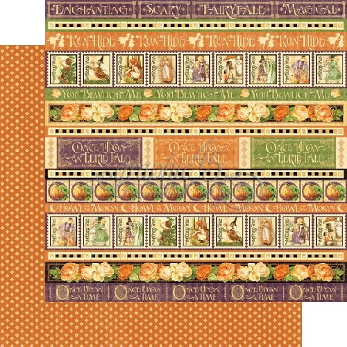 Graphic 45 - An Eerie Tale Collection - Halloween - 12 x 12 Double Sided Paper - Wicked Whimsey