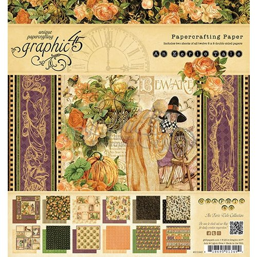 Graphic 45 - An Eerie Tale Collection - Halloween - 8 x 8 Paper Pad