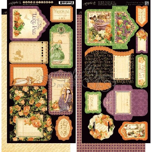 Graphic 45 - An Eerie Tale Collection - Halloween - Cardstock Tags and Pockets