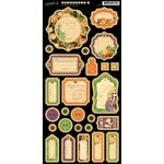 Graphic 45 - An Eerie Tale Collection - Halloween - Die Cut Chipboard Tags - Two