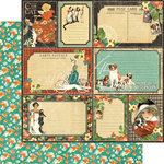 Graphic 45 - Raining Cats and Dogs Collection - 12 x 12 Double Sided Paper - Four-legged Friend