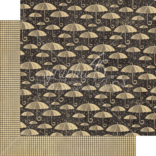Graphic 45 - Raining Cats and Dogs Collection - 12 x 12 Double Sided Paper - Pitter-Patter