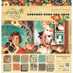 Graphic 45 - Raining Cats and Dogs Collection - 12 x 12 Paper Pad