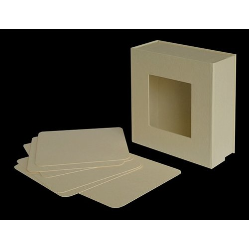 Graphic 45 - Staples Collection - Mixed Media - 5 x 5 Box - Ivory